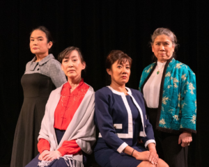 Bernadette Garcia as Ying-Ying, Patty Lum-Ohmann as An-Mei, Olivia Pritchett as Lindo, and Lisa Moon as Suyuan