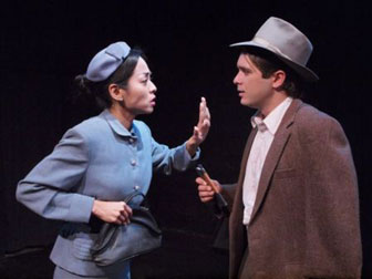 Lyra Dominguez (Hatsue) and Tucker Braga (Ishmael) Photo credit: David Rosky